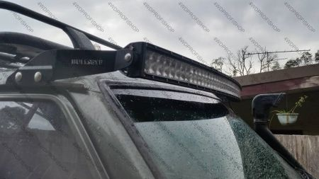 Bullseye Courved LED LIGHT BAR windscreen mount Patrol 160 260 Y60 Landcruiser 70 73 75