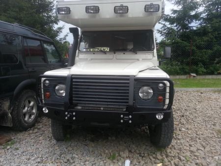 F4x4 front bumper Land Rover Defender 110 with Air conditioner